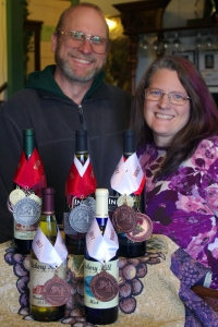 Wendy, Donald and some award-winning wines